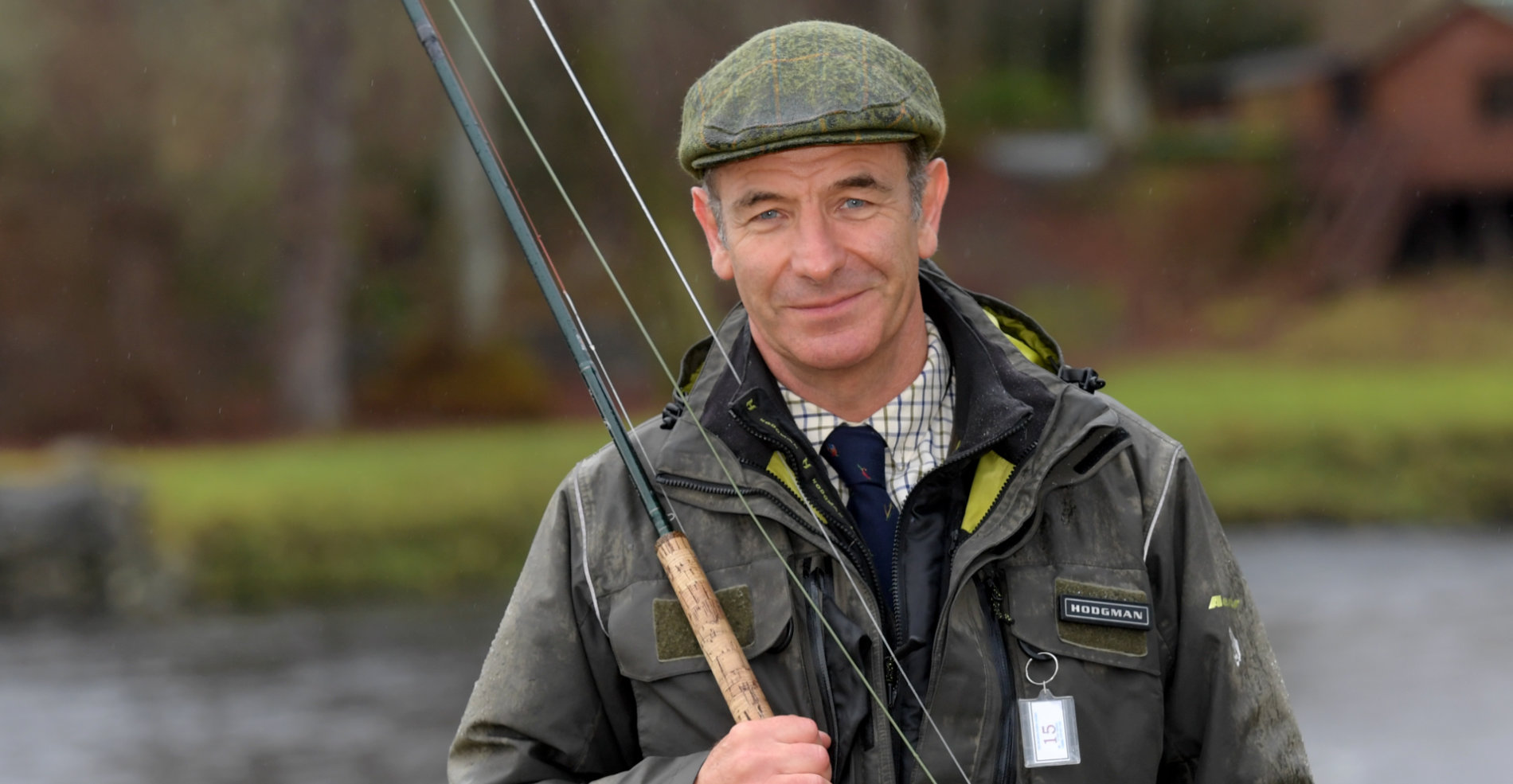 Robson Green fishing on the River Dee