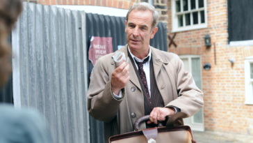 Robson Green as Geordie Keating in Grantchester
