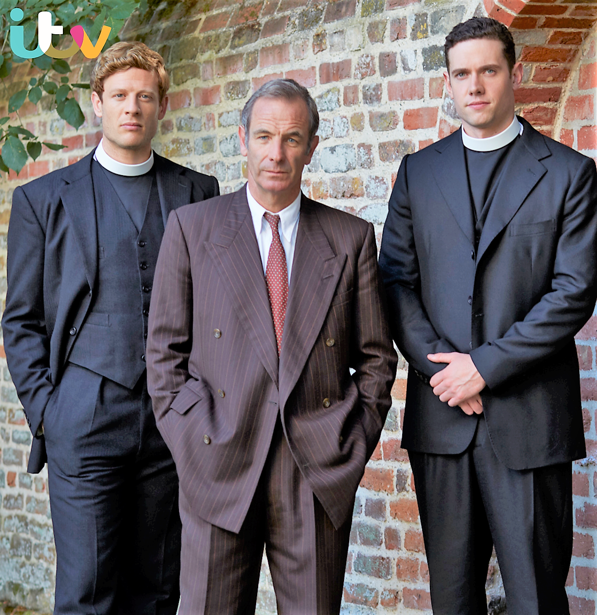 James Norton, Robson Green and Tom Brittney star in Grantchester
