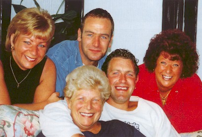 Robson Green with his mum, sisters and brother