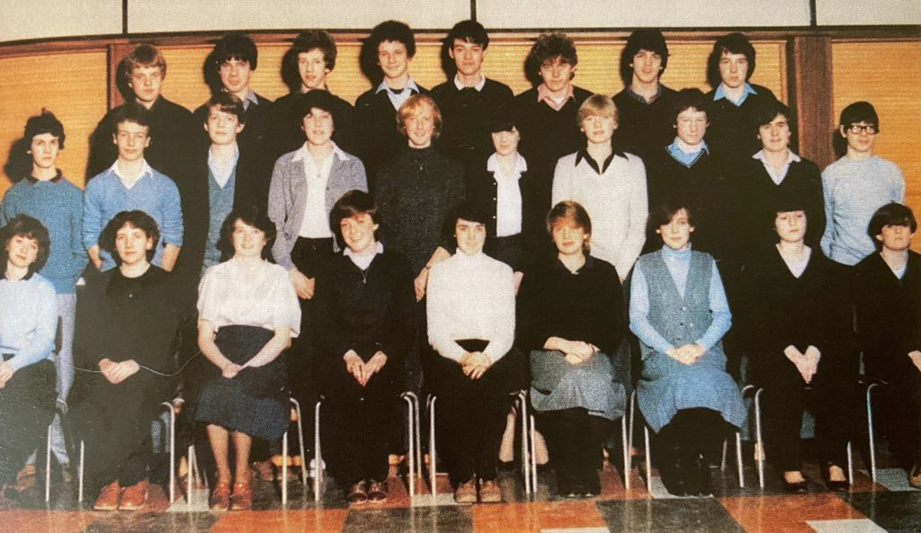 Robson Green and his class mates at Seaton Burn High School