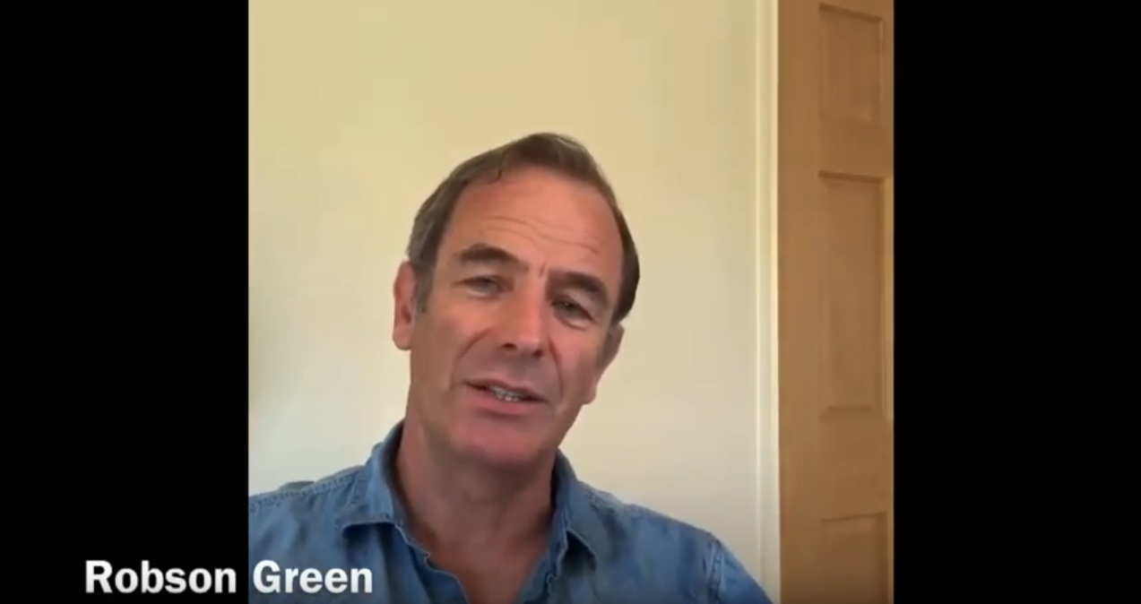 Robson Green's message of support to public transport workers