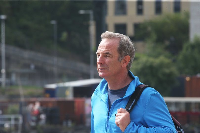 Robson Green spotted filming on Quayside ahead of 'adventure of a lifetime' on Hadrian's Wall show