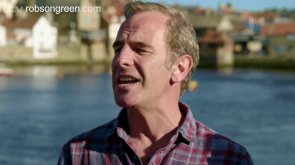 Robson Green sings shanties in the seaside resort of Whitby