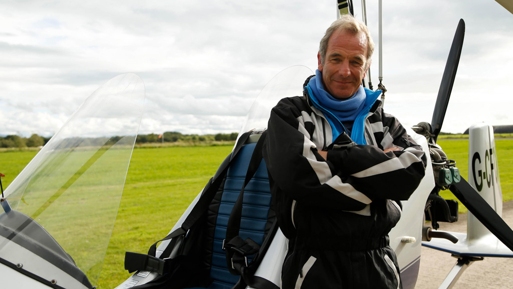 Robson Green takes to the skies for a bird's-eye view of Carlisle, on the route of Hadrian's Wall