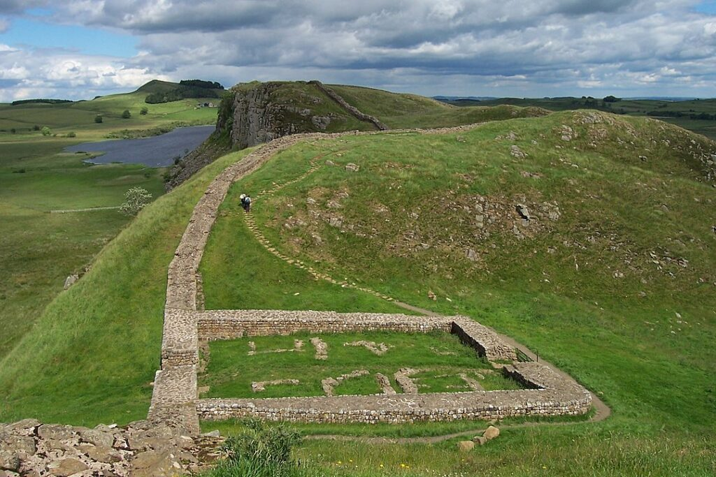 Milecastle ruins of Hadrian's Wall