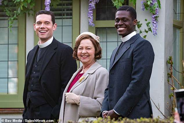 A rose between two thorns? Also on set was Ahmed Elhaj, who plays a vicar, who also joined in on the jokes