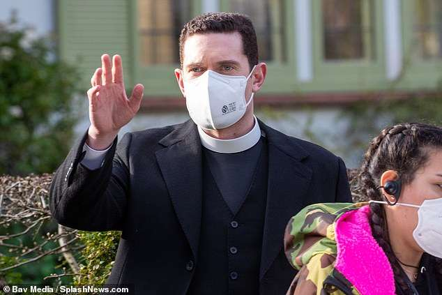 Rules and regulations: All the cast and crew were seen taking Covid precautions with face masks